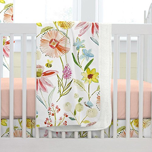 - Carousel Designs Springtime Floral Crib Blanket