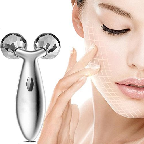 Finlon Y Shape 3D Roller Massager Face Kneading Ball Massager for Face and Body Lifting Wrinkle Remover Face Lift Tool Firming Beauty Massage