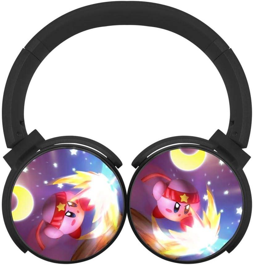 Kirby-Cute Unisex Teens Adult Wireless Bluetooth Headphones Headset Earphone Low Noise On-Ear Hi-Fi Earbuds