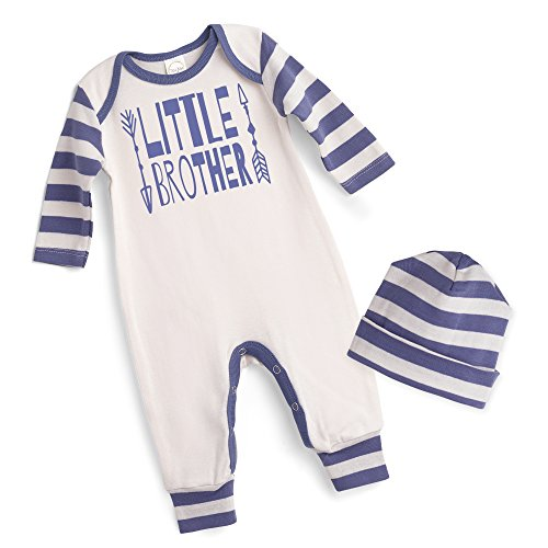 Little Brother Baby Boy Romper Jumpsuit Outfit with Hat (0-3 ()