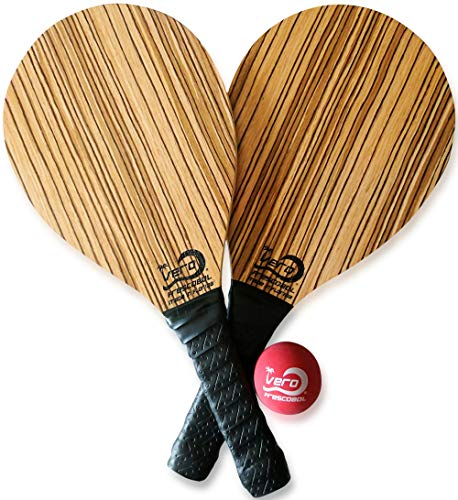 (2 Frescobol Paddles,1 Official Ball, Beach Bag, Made in USA)
