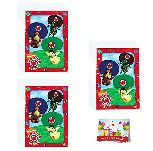 Wonder Pets Party Pack (Wonder Pets Birthday Party Favor Treat Bags Bundle Pack of 24)