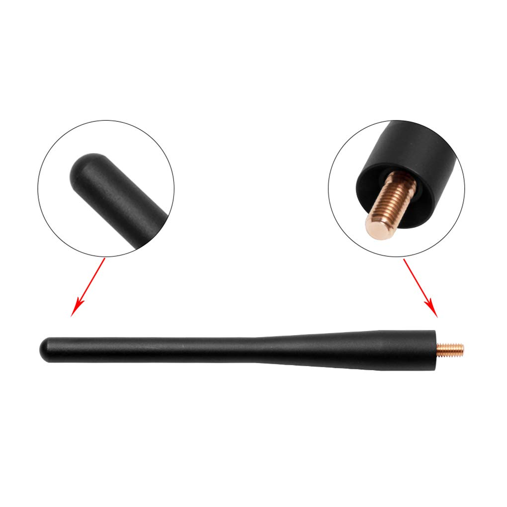 6 inch Aluminum Perfect Replacement Short Antenna for The Ford F-150 2009-2018(Black)