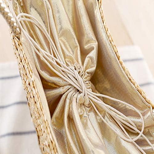 YVIVFHPWXF Sac de dame Mme paquet Paille sac dames de mode paillettes PWS lettre sac de paille épaule tisser sac à main été de vacances plage loisirs sac