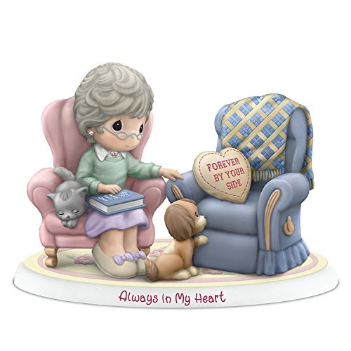 The Hamilton Collection Precious Moments Porcelain Grandmother Remembrance Figurine with Poem Card