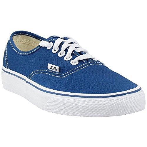VANS VEE3NVY Unisex Authentic Canvas Sneakers, Navy, 8 B(M) US Women / 6.5 D(M) US Men