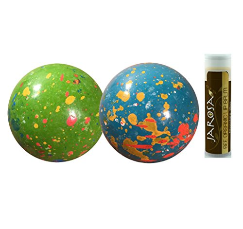 """Sconza 2 1/4"""" Psychedelic Sours (Wrapped)  2 Pack (1/2 lb) with a Jarosa Bee Organic Chocolate Bliss Lip Balm"""