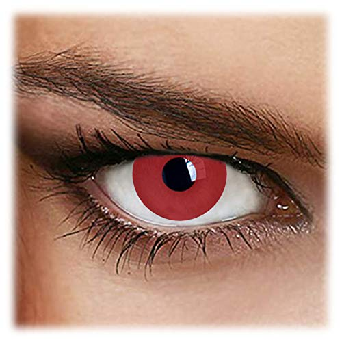 Red Lentillas de color, pack de 2 unidades - cómodas y perfectas para Halloween, Carnaval]()
