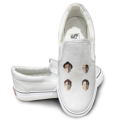 Rebecca Fall Out Boy Fashion Unisex Flat Canvas Shoes Sneaker 43 White The Round Toe And Manmade Sole Will Keep Your Feet Feeling Comfortable And The Quality Canvas Materials Will Provide Years Of Wear.