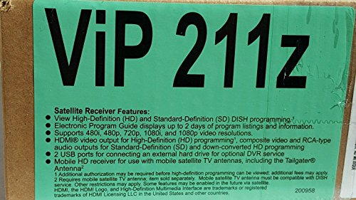 Dish Network ViP211z HD High Definition Satellite Receive...