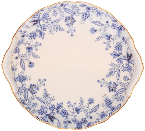 Noritake Sorrentino Party Plate, 11-Inch, Blue