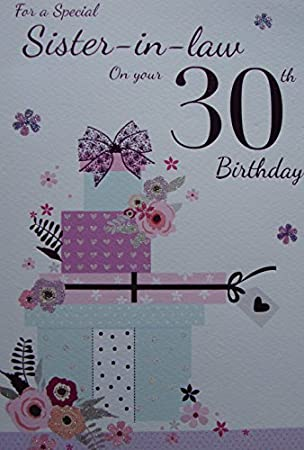 Sister In Law 30th Birthday Card By Icg Cards