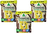 PLATO Dog Treats - Thinkers Natural Duck Sticks- 22 oz (3 Pack)