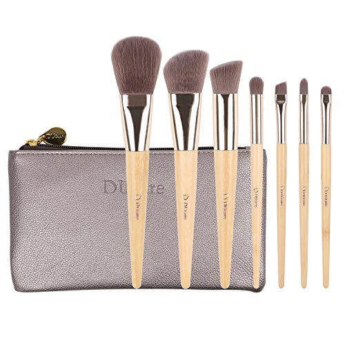 DUcare 7 Pieces Makeup Brush Set Professional Bamboo Handle