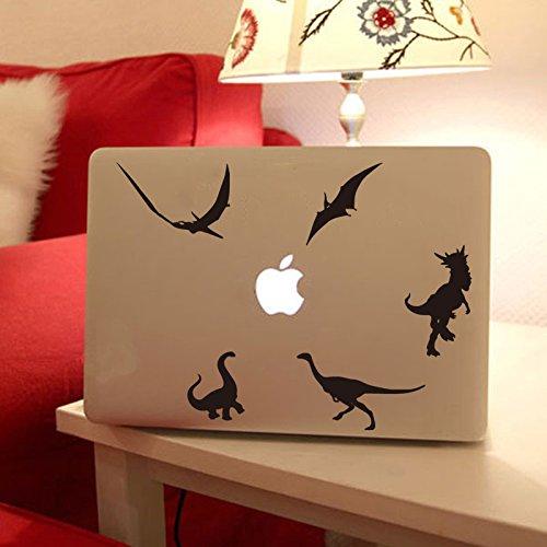 Jurassic Dinosaurs Tablet Sticker Vinyl Decal for Apple Ipad Macbook Gecko Lizard Removable Decal Skin(brown)