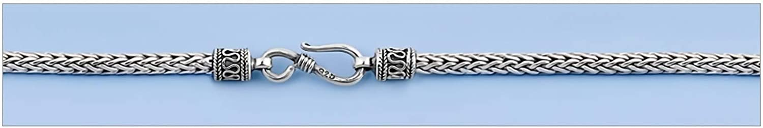 Italian Chain, Square Snake 020 Jewelry Gift for Women and Girls Glitzs Jewels 925 Sterling Silver Necklace
