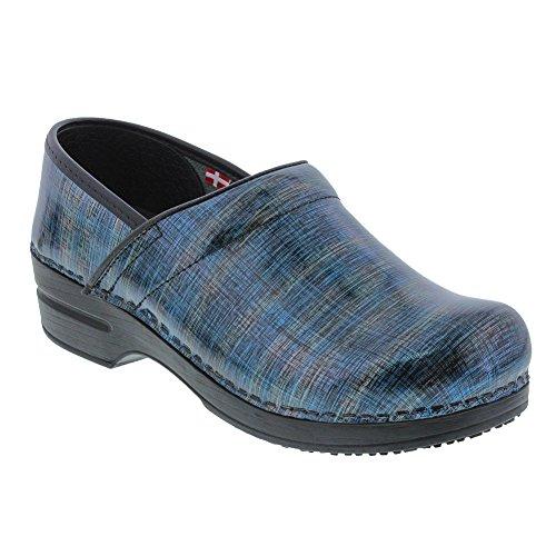 Sanita Women's Smart Step Skylar Work Shoe, Blue/Multi, 38 EU/7/7.5 M US