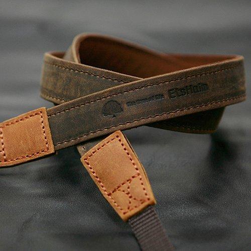 MATIN D-SLR RF Mirrorless Camera Vintage-20 Leather Neck Shoulder Strap Brown