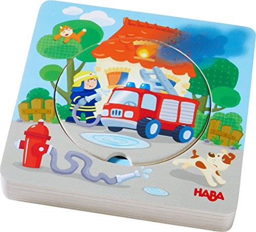 HABA Fire! Fire! Wooden Puzzle with Layered Disks for Ages 12 Months and Up ()