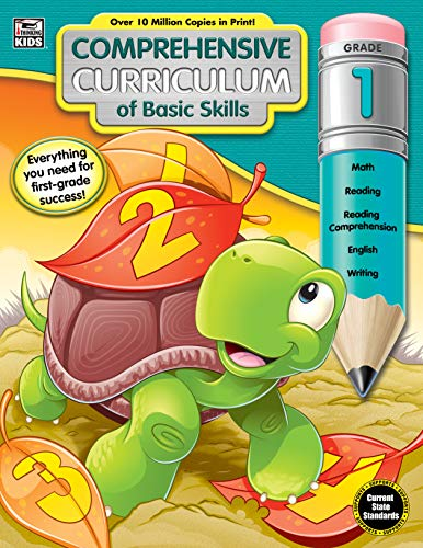 Homeschool Curriculum - Comprehensive Curriculum of Basic Skills Workbook for Grade 1, Paperback, 544 Pages, Ages 6-7