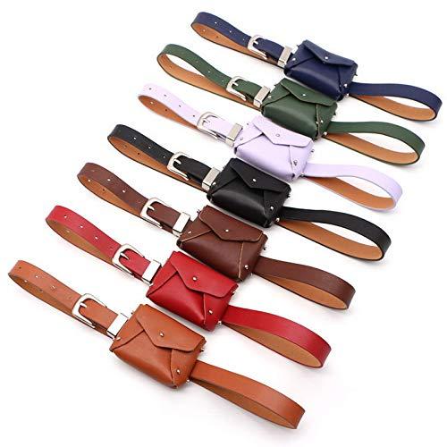 HeroStore Punk Style Belt Waist Bag Women Small PU Leather Fanny Pack Female Bag B Fashion Lady Travel Money Belt Bags