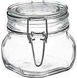 Bormioli Rocco Fido Square Clear Jar, 17 Ounce
