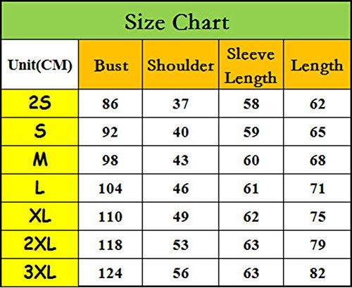 Manica Lungo Camicia attività Unisex T Camicetta Anguang Top Nero Casuale Commerciale Pulsante Shirt Polo A1fxWzwnq
