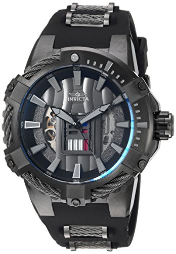 Invicta Men s Star Wars Stainless Steel Automatic-self-Wind Watch with Silicone Strap, Grey, 30 Model 26223