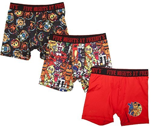 Fashion Five Nights at Freddy's Action Underwear 3 Pack Boxer Briefs - Small by Fashion