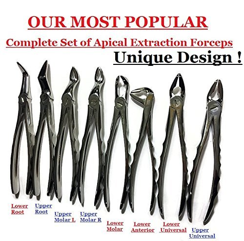 Amazon Com Wise Dental Surgical Extracting Extraction Forceps Set Of 8 Dental Instruments Industrial Scientific