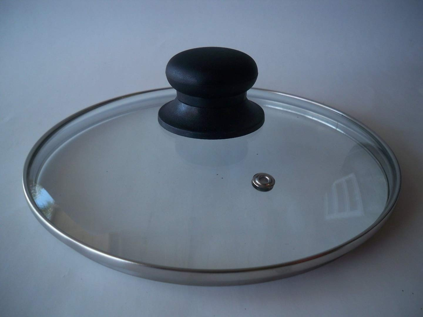 Amazon.com: Tempered Glass Lid for Pot & Pans with Vent Hole, 34 cm: Cookware Lids: Kitchen & Dining