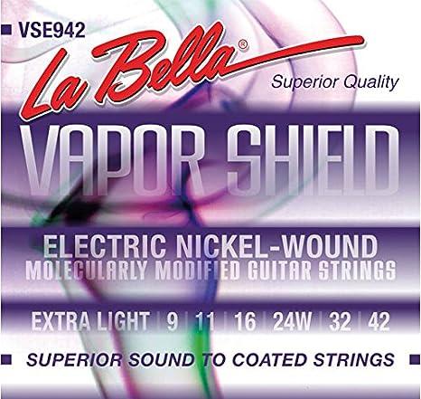 La Bella vse942 Cuerdas para guitarra eléctrica: Amazon.es: Instrumentos musicales