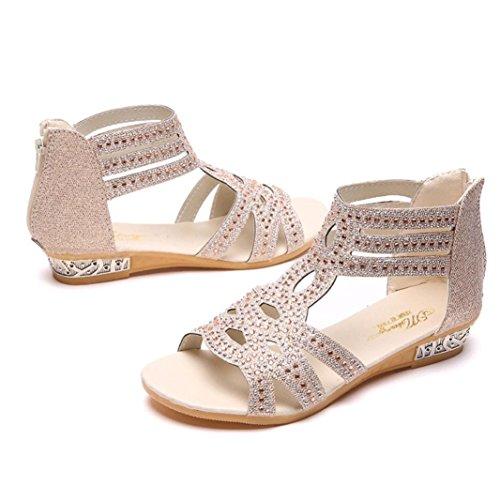 Couleur Bouche Poisson Automne Sandales Chaussures Creux Plat Femmes Cristal zahuihuiM Solide Mode Beige qx1OBwnxX