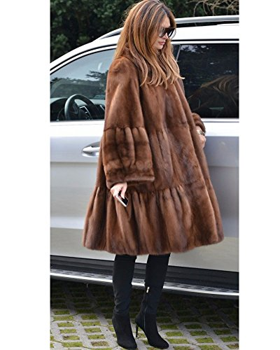 Fur Trench 20 Brown Jacket Long Parka Overcoat Aofur Winter Coat Casual Warm 8 Oversize Thick Faux Women's Outdoor PBafBTY
