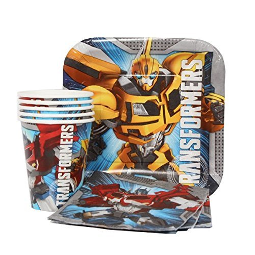 Transformers Party Express Pack for 8 Guests (Cups Napkins & Plates) by Universal Studio (Cups Ounce 9 Transformers)