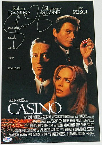 Sharon Stone Signed Casino 11x17 Movie Poster -PSA/DNA Authentic Autograph Signed Casino