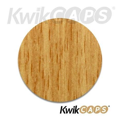 Diam/ètre 20 mm Feuille simple de 54 KwikCaps/® PVC Ch/êne Bardolino Gris Cache-vis adh/ésifs VBA plus Trous de forage Clous Came