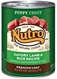 NUTRO Puppy Savory Lamb and Rice Premium Loaf Canned Dog Food, 12.5 oz. (Pack of 12)