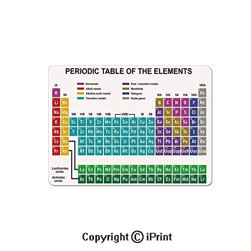 (Gaming Mouse Pads, Educational Artwork for Classroom Science Lab Chemistry Club Camp Kids Print Non Slip Rubber Mousepad,7.1x8.7 inch,Multicolor)