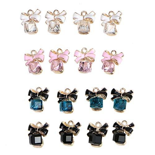 - Monrocco 16 pcs Bow Charms Enamel Rhinestone Bow Charm Pendant for DIY Necklace Bracelet Jewelry Making