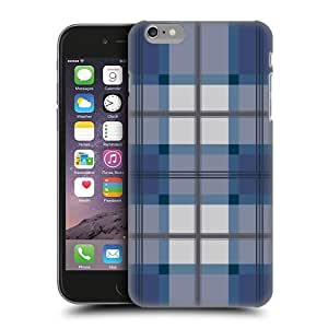 Head Case Designs Blue Grey Plaid Pattern Protective Snap-on Hard Back Case Cover for Apple iPhone 6 Plus 5.5