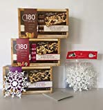 GLUTEN FREE: 180 Snacks GF Variety Bundle: 3 Boxes of 5 Individual Wrapped Bars 1-Almond Cashew Nut & Seed, 1-Blueberry Nut & Seed & 1-GF Cranberry Pomegranate+ Free Set of 5-Xmas Snowflakes and More Review