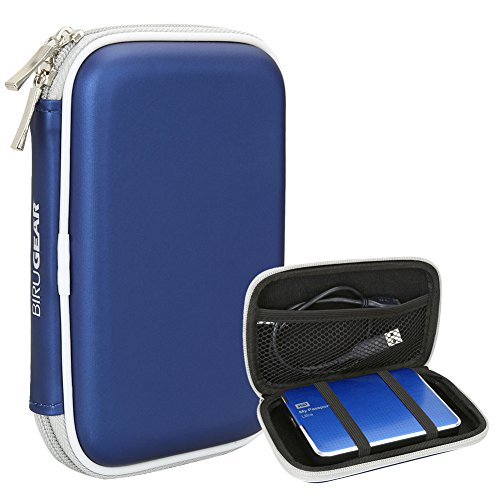 BIRUGEAR Hard Shell Carrying Case for Western Digital WD My Passport Ultra / Ultra Metal Edition, My Passport Edge / Enterprise / Essential & More Portable External Hard Drives - Blue