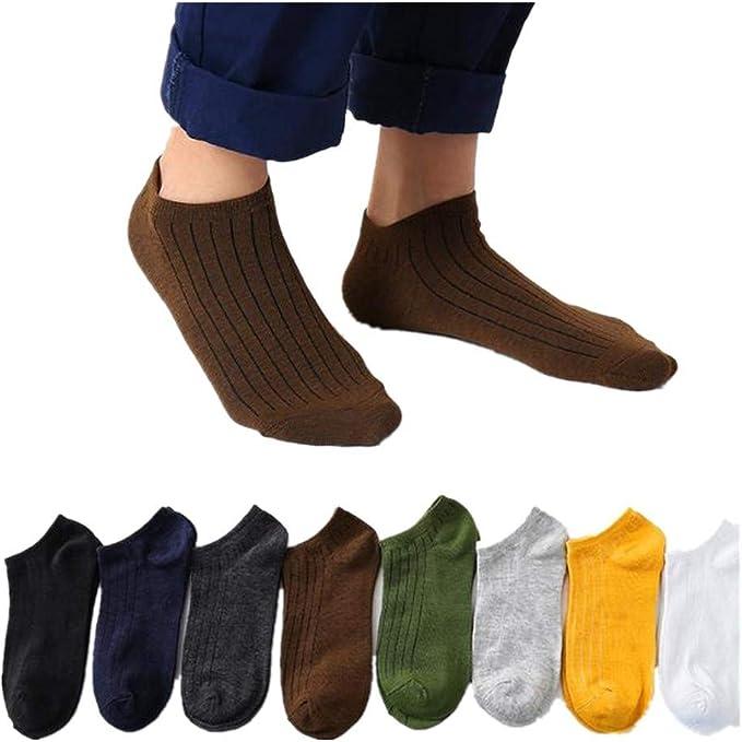 QinMMROPA 8 pares calcetines cortos de algodón para hombre mujer adulto unisex verano calcetines bajo tobilleros transpirables deporte: Amazon.es: Ropa y accesorios
