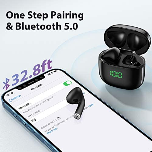 True Wireless Earbuds,TWS Bluetooth 5.0 Headphones with Wireless Charging Case,Occiam Touch Control Hi-Fi Stereo Bluetooth Earphones with mic,Waterproof & 30H Playtime Headset for Sports Running Work