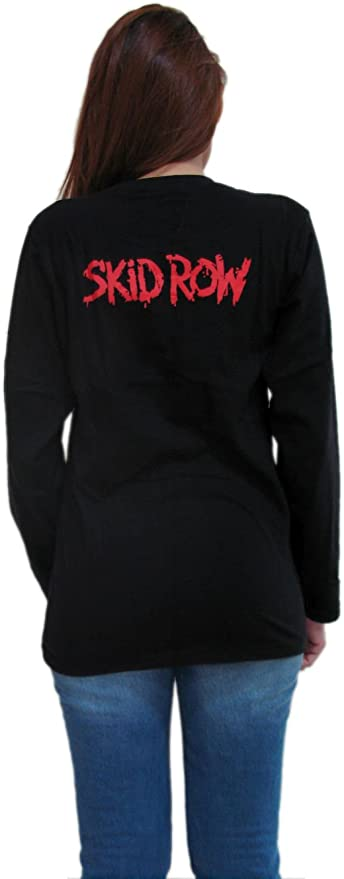 WOMEN//DAMEN T-SHIRT SKID ROW SLAVE TO THE GRIND 1 ROCK METAL TEE LONGSLEEVE//SHOR
