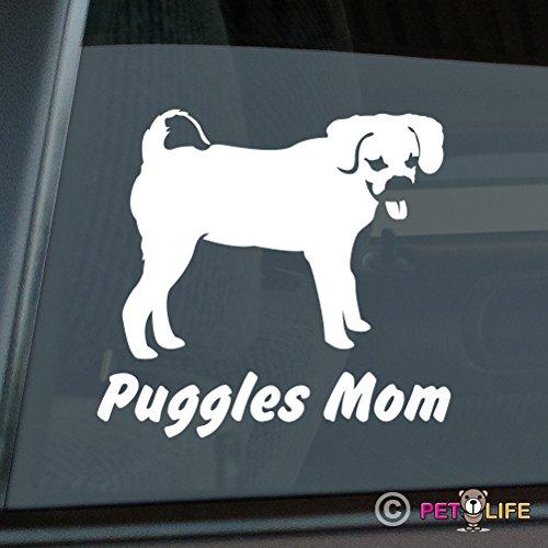 Puggles Mom Sticker Vinyl Auto Window Mister Petlife PD-0961