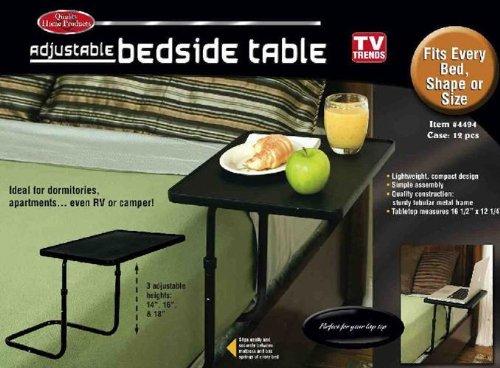Adjustable Bedside Table (Black) (Adjustable Bedside Table compare prices)