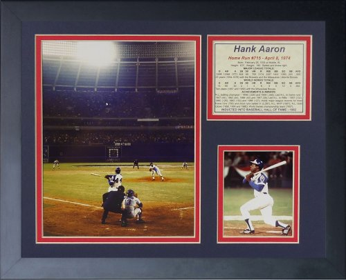 Hank Aaron Game (Legends Never Die Hank Aaron 715th Home Run Color Framed Photo Collage, 11 by 14-Inch)