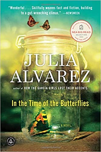 book cover of in the time of the butterflies by julia alvarez